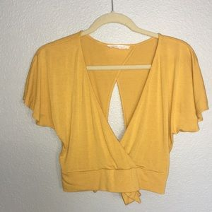 Nordstrom Yellow Tie Top